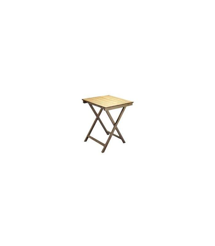Mesa plegable cuadrada de madera for Diseno de mesa plegable