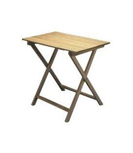 Mesa plegable cuadrada de madera - Velador plegable ...