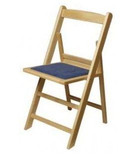 Sillas plegables con asiento tapizado