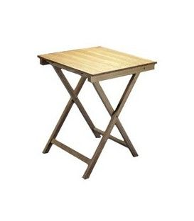 Mesa plegable cuadrada de madera