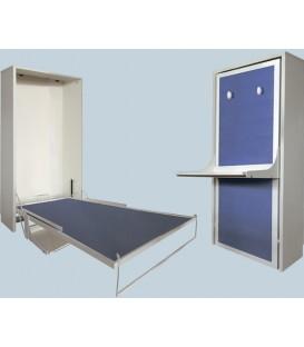 Cama de madera  abatible en vertical con escritorio