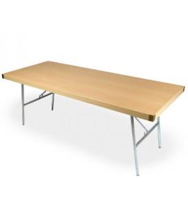 Mesa plegable de Cátering con patas metálicas