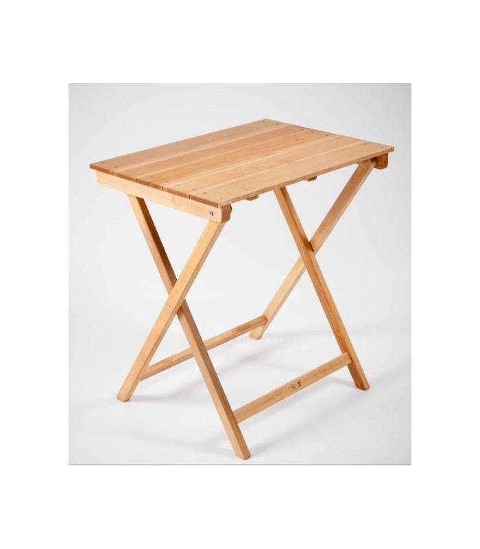 Mesa plegable rectangular de madera de haya la web del - Mesa plegable madera ...