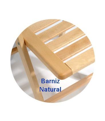 Mesa plegable redonda alta de madera de haya
