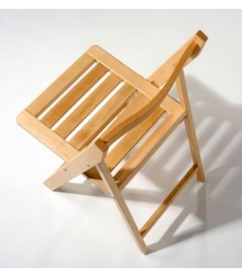Silla plegable de madera de haya modelo MAD