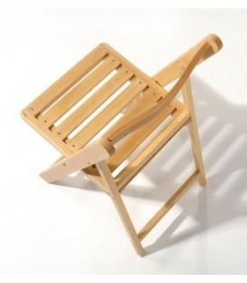 Silla plegable de madera de haya modelo BAR