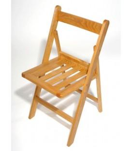 Silla plegable de madera de haya modelo BBV