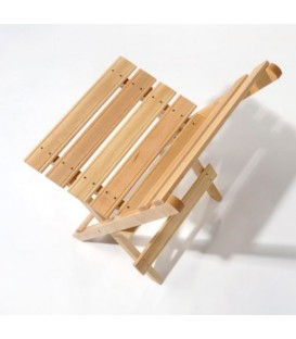 Silla plegable de madera de haya modelo CAD