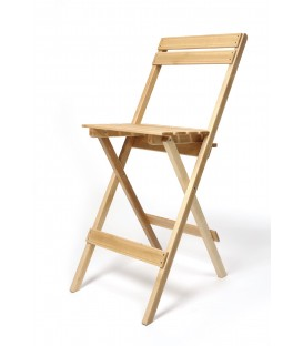Silla alta plegable de madera de haya mod CADAL