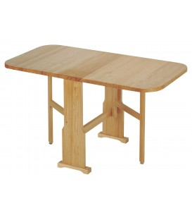 Mesa plegable con alas pino