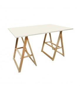 Mesa tapa con caballetes