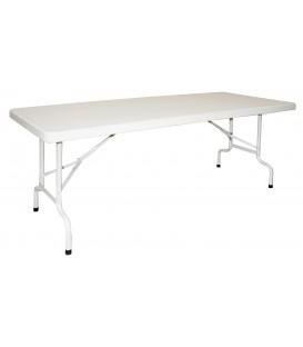 Mesa plegable rectangular de polietileno