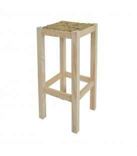 Taburete rústico de madera de pino