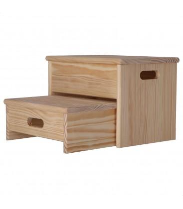 Eescalera banqueta plegable de madera